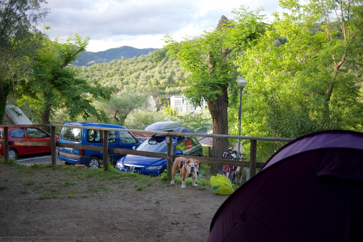 The campsite in Levanto