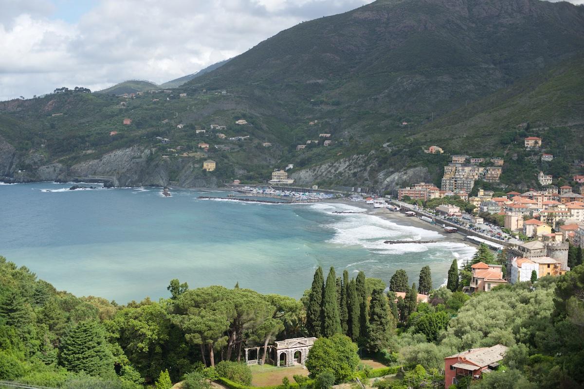 View over Levanto, Cinque Terre, Italy