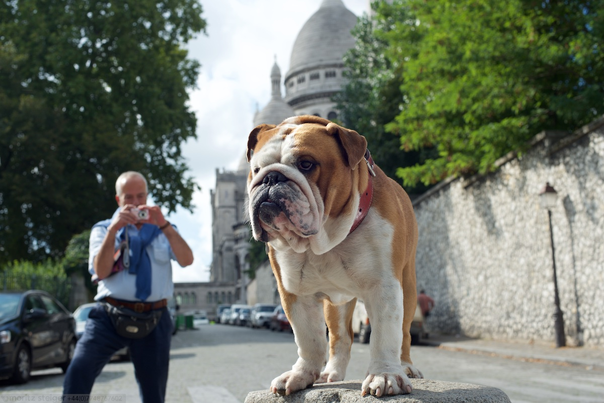 Rudy in front of the Sacre Couer