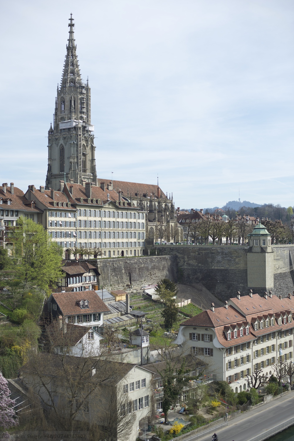 The impressive 15th century Gothic cathedral, the Münster of Bern