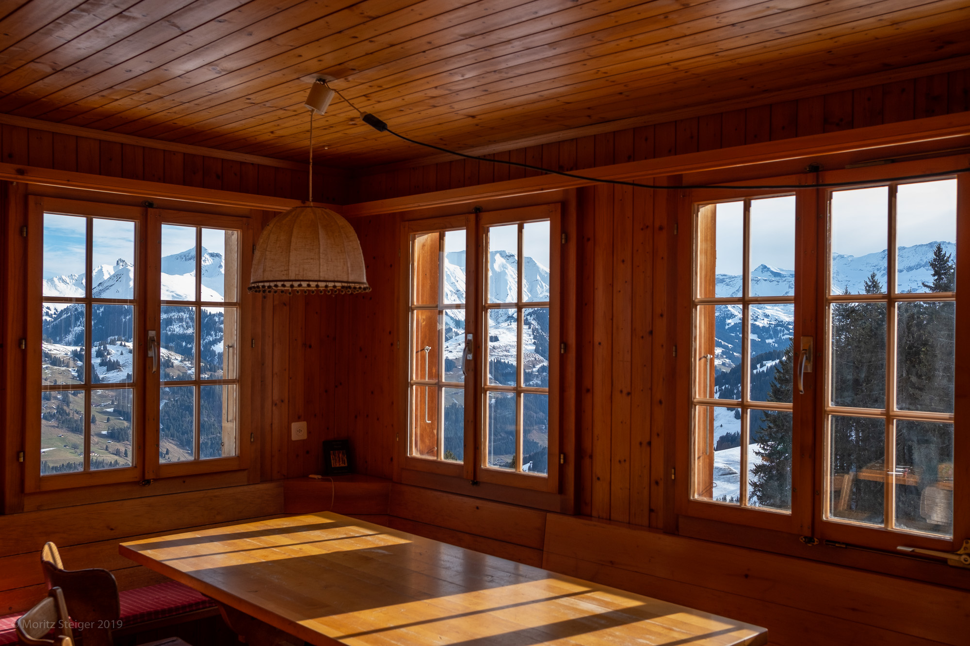Room with a view. Chalet, Bernese mountains.