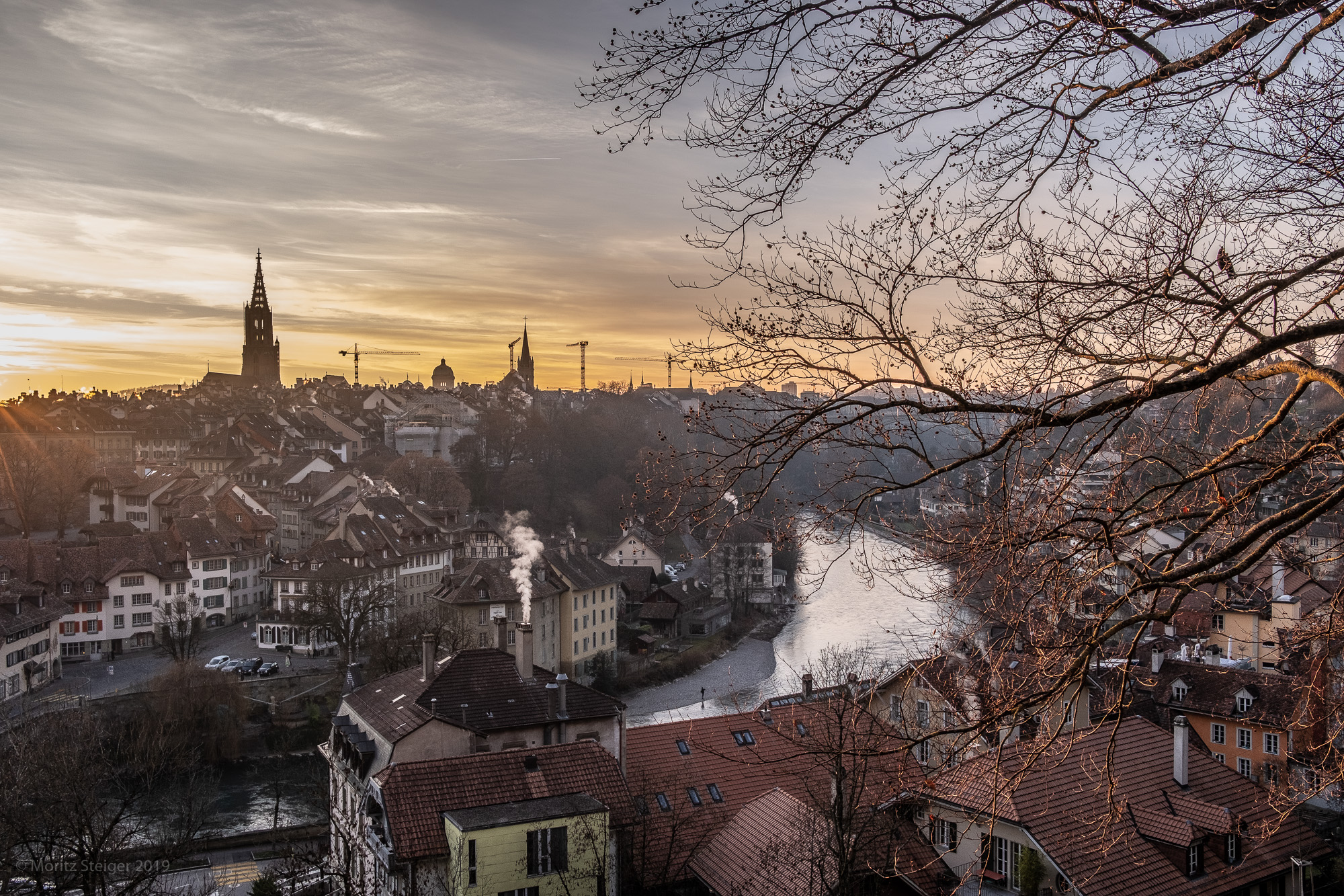 But first a few days in Bern. Bern at dusk.
